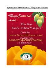 Highest Potential Enriched Kesar Mango by Savani Farms.pdf