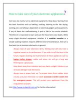 How to take care of your electronic appliances.pdf