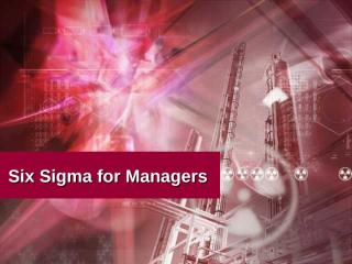 Six Sigma for Managers.ppt