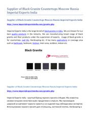 Supplier of Black Granite Countertops Moscow Russia Imperial Exports India.pdf