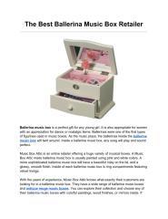 The Best Ballerina Music Box Retailer.pdf