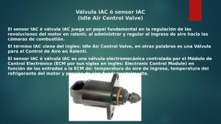 Válvula IAC ó sensor IAC.pptx