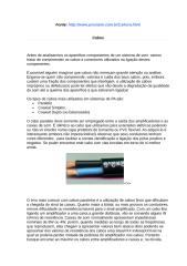 Artigos sobre equipamentos de som.doc
