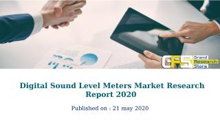 Digital Sound Level Meters Market Research Report 2020.pptx