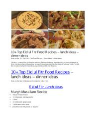 10+ Top Eid ul Fitr Food Recipes – lunch ideas – dinner ideas.pdf