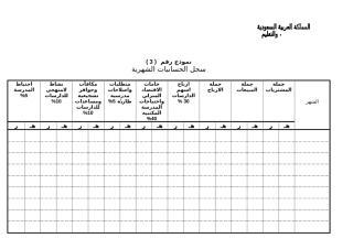 سجل الحسابيات الشهرية.doc