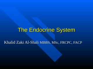 The Endocrine System 1.ppt