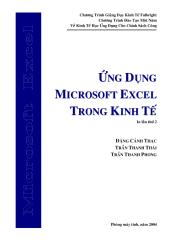 Ung dung MS Excel trong Kinh te.pdf