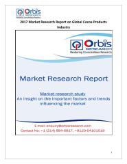 2017 Market Research Report on Global Cocoa Products Industry.pdf
