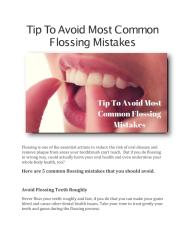 Tip To Avoid Most Common Flossing Mistakes.pdf