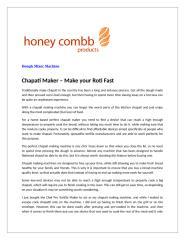 Chapati Maker – Make your Roti Fast.doc