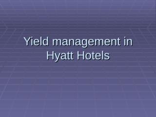 for yield management.ppt