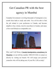 Get Canadian PR with the best agency in Mumbai (1).pdf