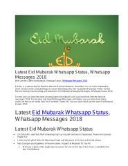Latest Eid Mubarak Whatsapp Status, Whatsapp Messages 2018.pdf